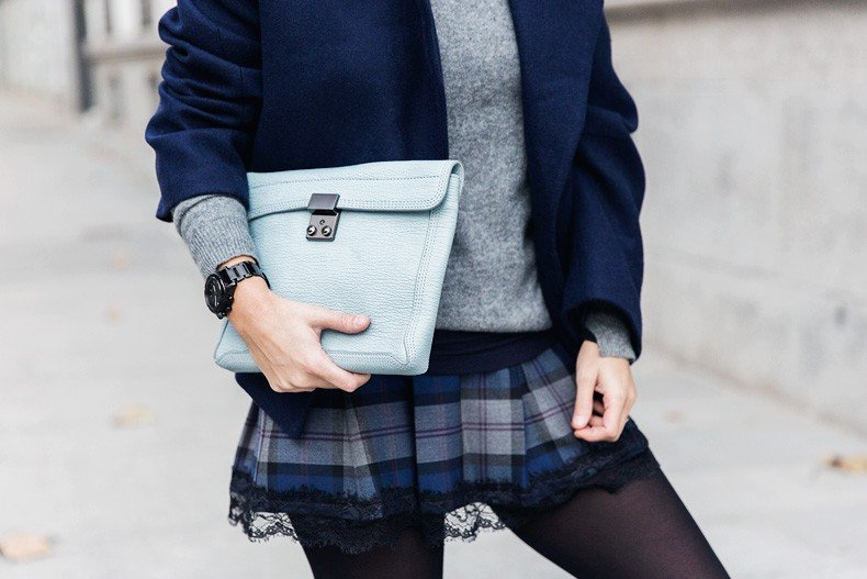 Checked_Skirt-Cashmere_Sweater-Navy_Jacket-Loafers-Outfit-Street_Style-Collage_Vintage-33