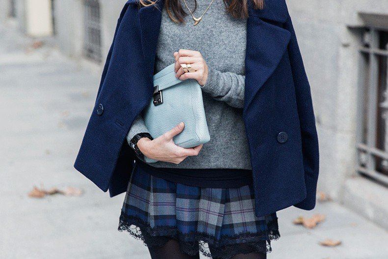 Checked_Skirt-Cashmere_Sweater-Navy_Jacket-Loafers-Outfit-Street_Style-Collage_Vintage-36