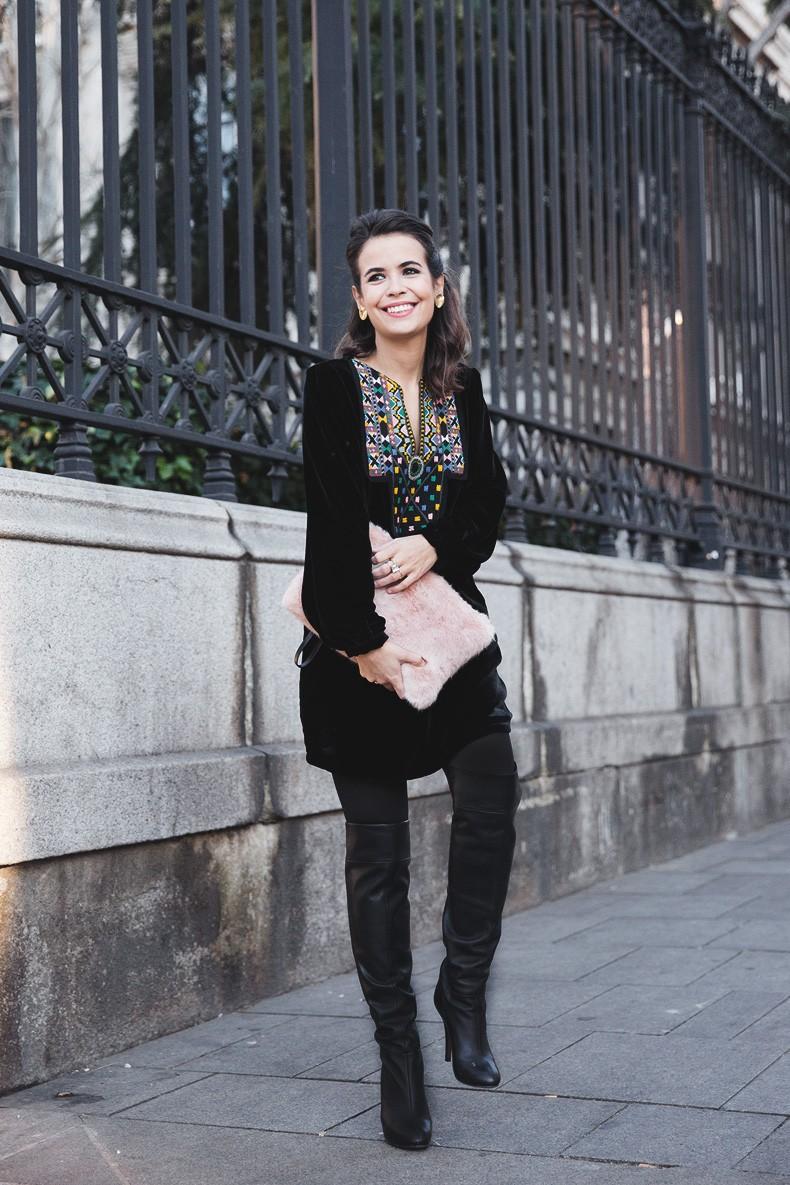 Fur_Coat-Velvet_Dress-Over_The_Knee_Boots-Boho_Dress-Outfit-Collage_VIntage-Street_Style-8