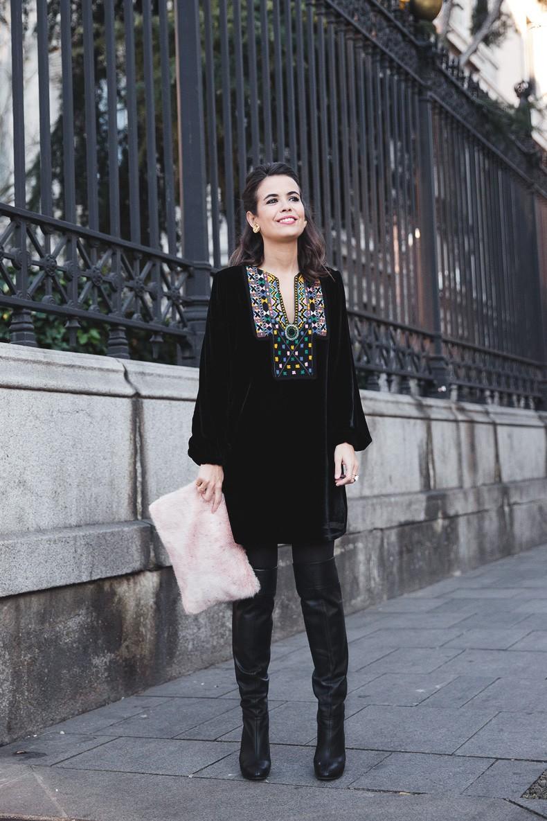 Fur_Coat-Velvet_Dress-Over_The_Knee_Boots-Boho_Dress-Outfit-Collage_VIntage-Street_Style-9