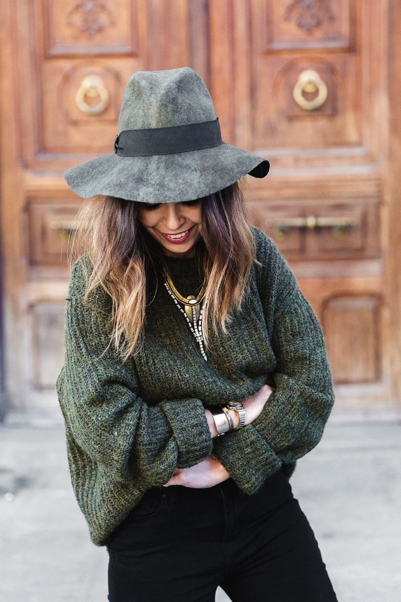 Khaki_Jumper-Black_Jeans-Leopard_Boots-Lionette_NY_By_Noa_Sade_Necklace-Revolve_Clothing-Outfit-Maje_Leather_Skirt-Street_Style-11