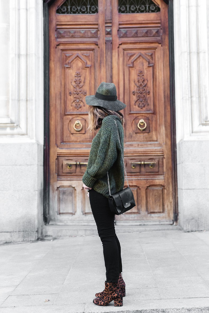 Khaki_Jumper-Black_Jeans-Leopard_Boots-Lionette_NY_By_Noa_Sade_Necklace-Revolve_Clothing-Outfit-Maje_Leather_Skirt-Street_Style-24