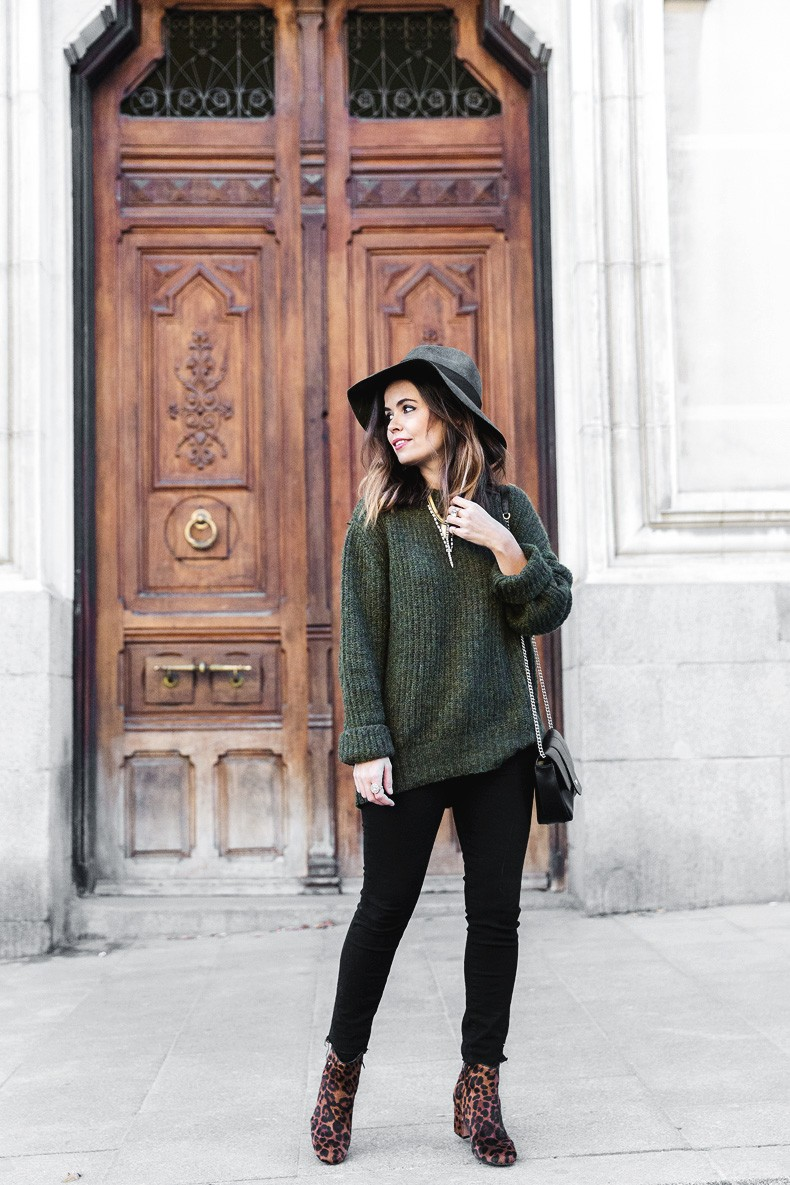 Khaki_Jumper-Black_Jeans-Leopard_Boots-Lionette_NY_By_Noa_Sade_Necklace-Revolve_Clothing-Outfit-Maje_Leather_Skirt-Street_Style-29