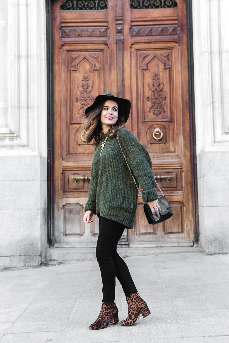 Khaki_Jumper-Black_Jeans-Leopard_Boots-Lionette_NY_By_Noa_Sade_Necklace-Revolve_Clothing-Outfit-Maje_Leather_Skirt-Street_Style-35