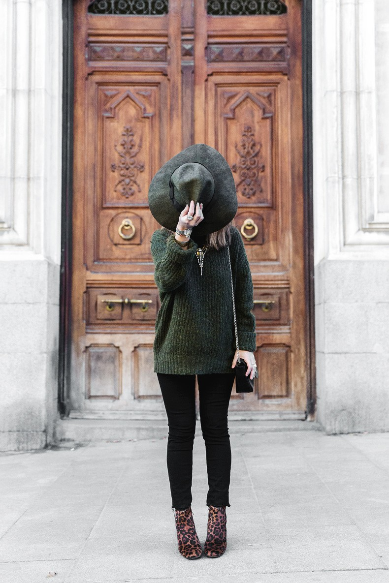 Khaki_Jumper-Black_Jeans-Leopard_Boots-Lionette_NY_By_Noa_Sade_Necklace-Revolve_Clothing-Outfit-Maje_Leather_Skirt-Street_Style-37