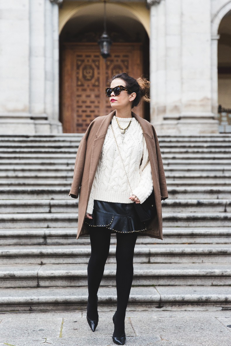 Leather_Skirt-Maje_Sweater-Camel_Coat-Lionette_NY_Necklace-Outfit-Street_Style-Collage_Vintage-Topknot-27