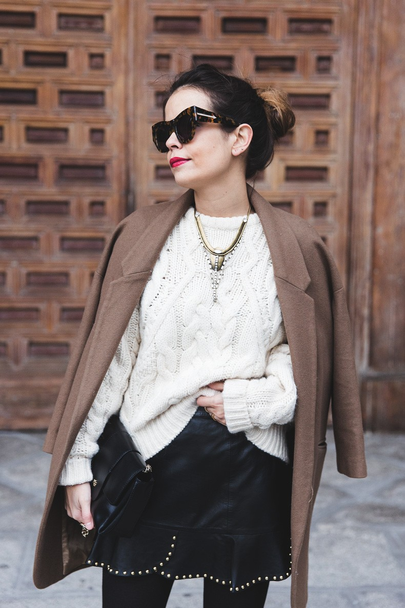 Leather_Skirt-Maje_Sweater-Camel_Coat-Lionette_NY_Necklace-Outfit-Street_Style-Collage_Vintage-Topknot-3