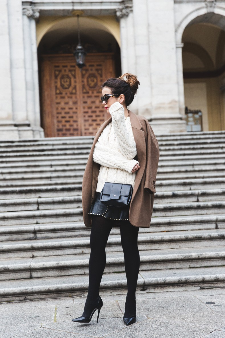 Leather_Skirt-Maje_Sweater-Camel_Coat-Lionette_NY_Necklace-Outfit-Street_Style-Collage_Vintage-Topknot-4