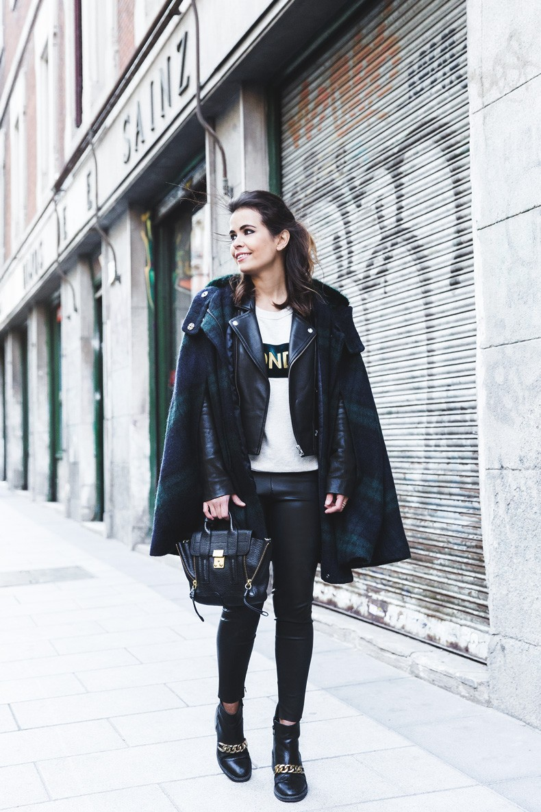 Plaid_Cape-Leather_Jacket-Sandro-Wonder_Sweatshirt-Chained_Boots-Outfit-Collage_Vintage-12