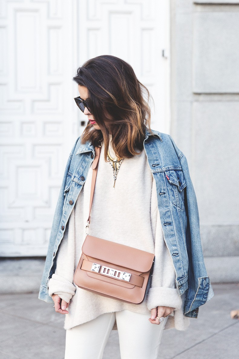 Proenza_Schouler_Bag-Cream_Outfit-Denim_Jacket-Street_Style-Collage_Vintage-