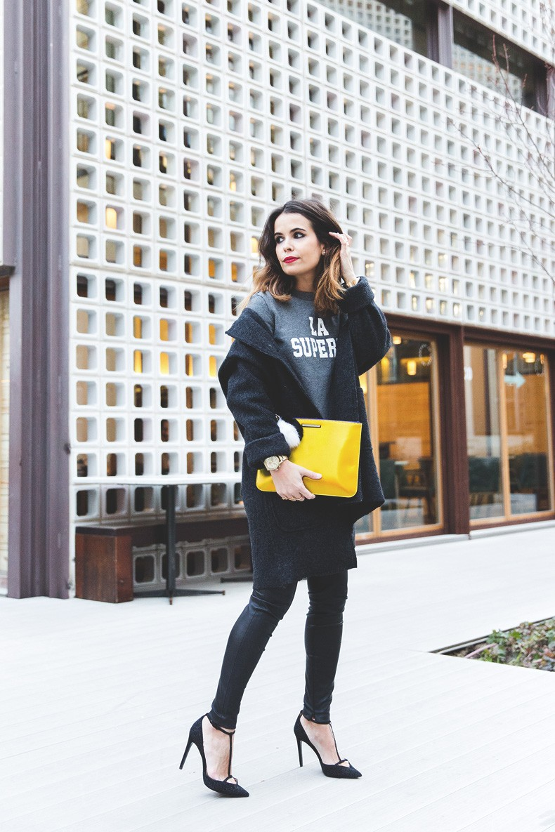 Rebecca_Minkoff_Yellow_Clutch-La_Superbe_Sweatshirt-Madewell-Sezane-Leather_Pants-Outfit-Street_Style-Collage_Vintage-57