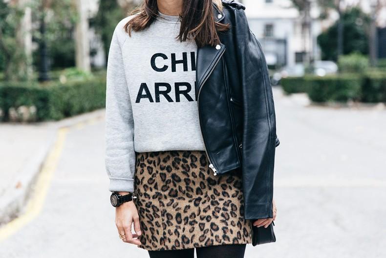 SweatShirt-Blanco_Suite-Leopard_Skirt-Topshop-Balenciaga_Cut_Out_Boots-Biker_Jacket_Maje-Street_Style-63