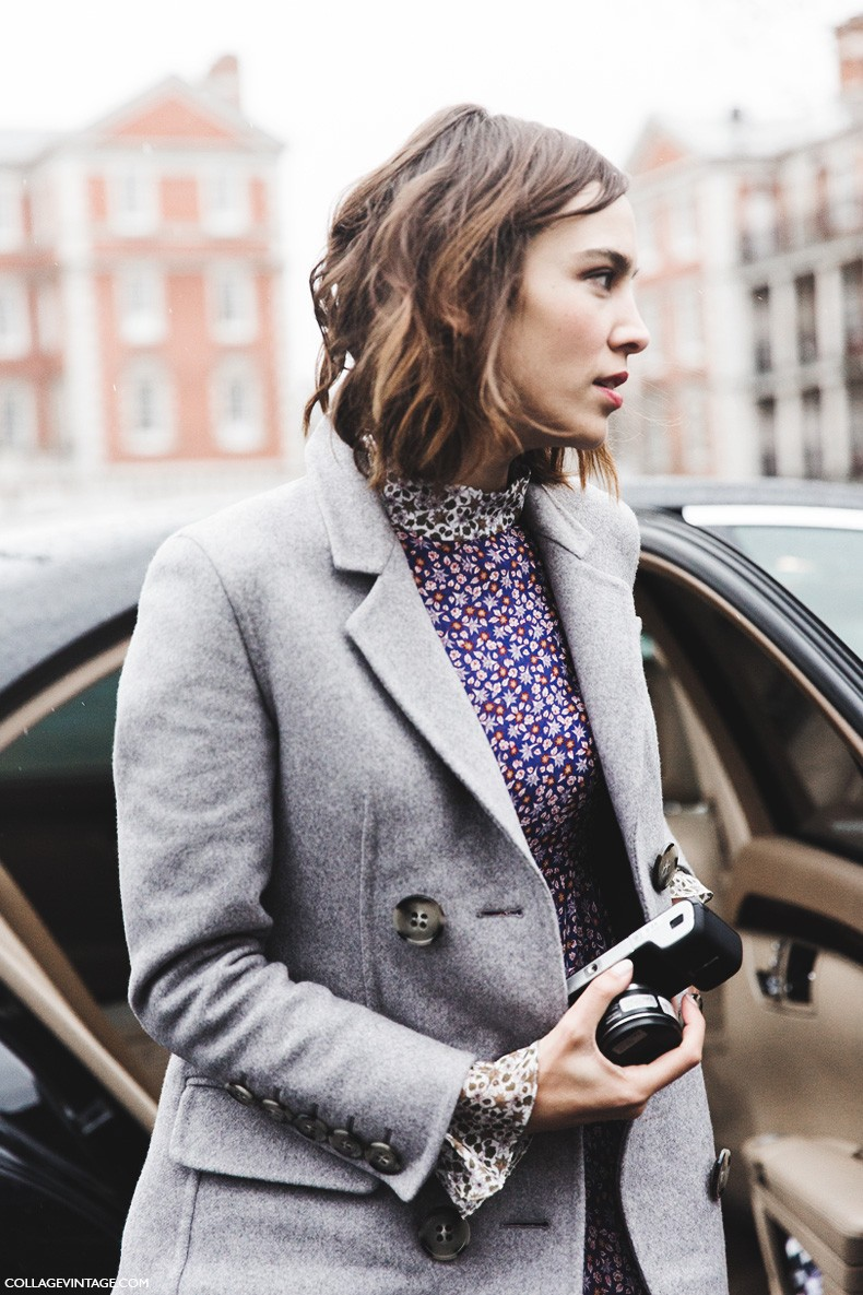 London_Fashion_Week_Fall_Winter_2015-Street_Style-LFW-Collage_Vintage-Alexa_Chung-Topshop_Dress-Topshop_unique-1
