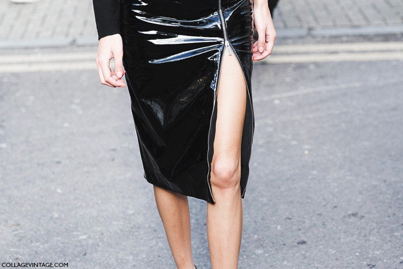 London_Fashion_Week_Fall_Winter_2015-Street_Style-LFW-Collage_Vintage-Alexa_Chung-Zipper_Pencil_Skirt-Black_And_White-10