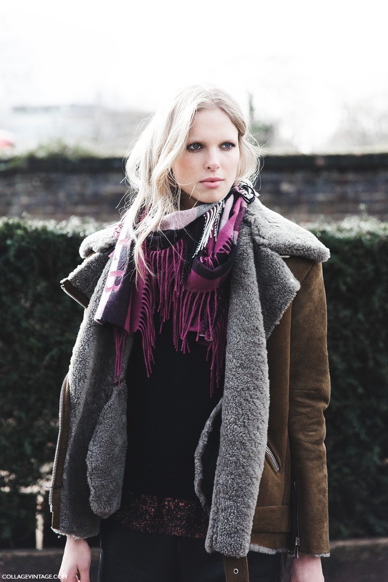 London_Fashion_Week_Fall_Winter_2015-Street_Style-LFW-Collage_Vintage-Burberry_Fall_15-Shearling_Jacket-