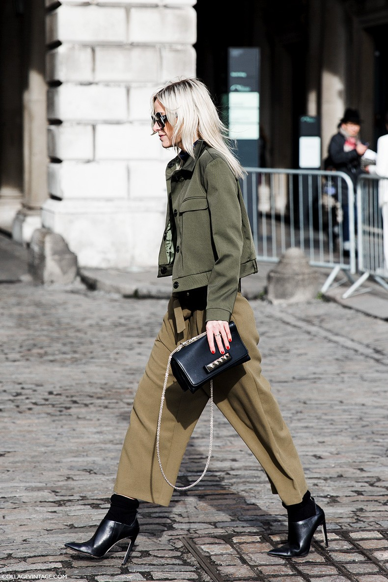 London_Fashion_Week_Fall_Winter_2015-Street_Style-LFW-Collage_Vintage-Culotte_Trousers-Military_Trend-1