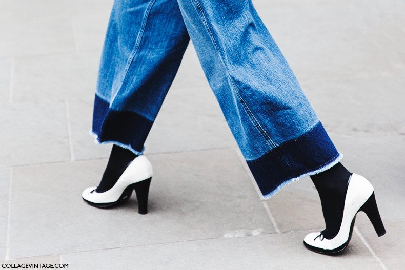 London_Fashion_Week_Fall_Winter_2015-Street_Style-LFW-Collage_Vintage-DyP_Dye_Denim_Culotte-