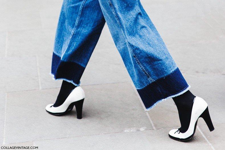 London_Fashion_Week_Fall_Winter_2015-Street_Style-LFW-Collage_Vintage-DyP_Dye_Denim_Culotte-