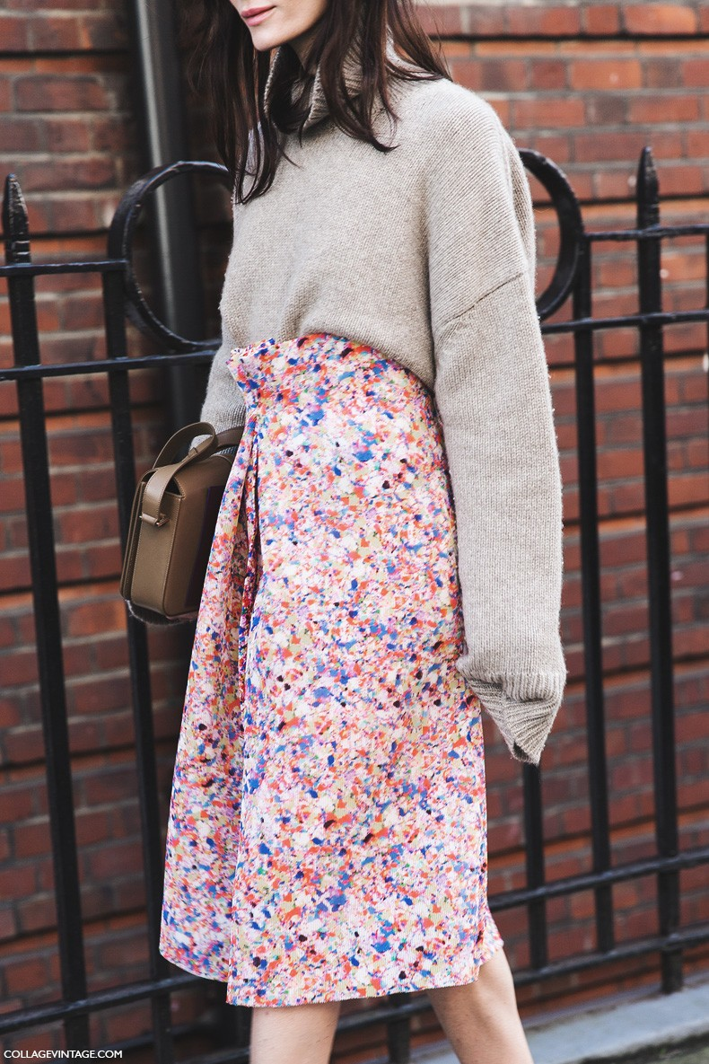 London_Fashion_Week_Fall_Winter_2015-Street_Style-LFW-Collage_Vintage-Floral_Skirt-Turtle_Neck-Sweater