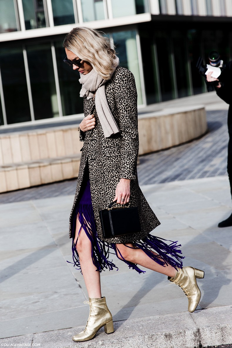 London_Fashion_Week_Fall_Winter_2015-Street_Style-LFW-Collage_Vintage-Golden_Boots-Leopard_Coat-Fringed_Skirt-1