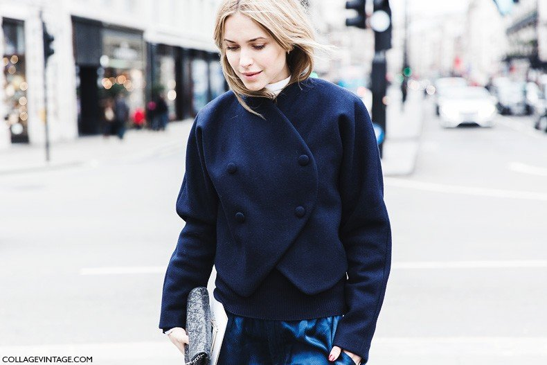 London_Fashion_Week_Fall_Winter_2015-Street_Style-LFW-Collage_Vintage-Look_De_Pernille-Navy_Outfit-3