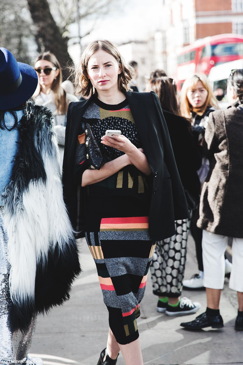 London_Fashion_Week_Fall_Winter_2015-Street_Style-LFW-Collage_Vintage-Striped_Dress-