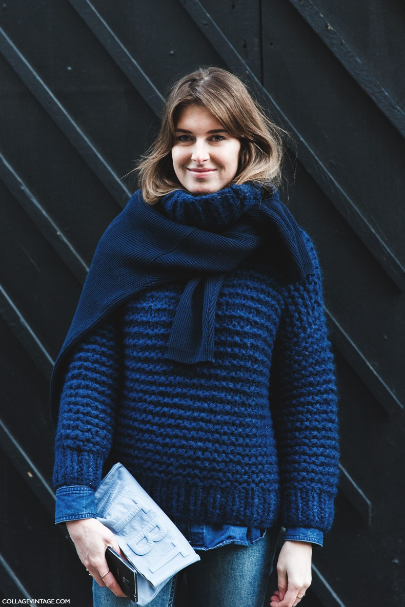 London_Fashion_Week_Fall_Winter_2015-Street_Style-LFW-Collage_Vintage-Sweater_Scarf-