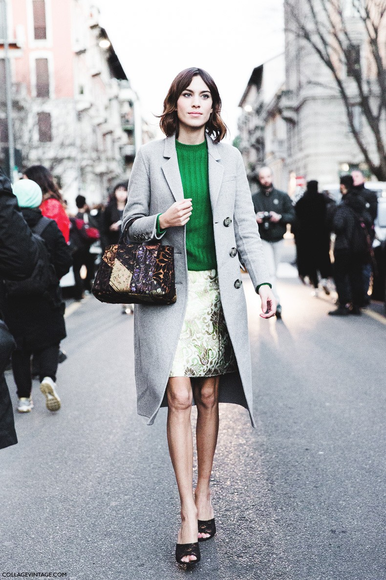 Milan_Fashion_Week-Fall_Winter_2015-Street_Style-MFW-Alexa_Chung_Grey_Coat-Prada-3