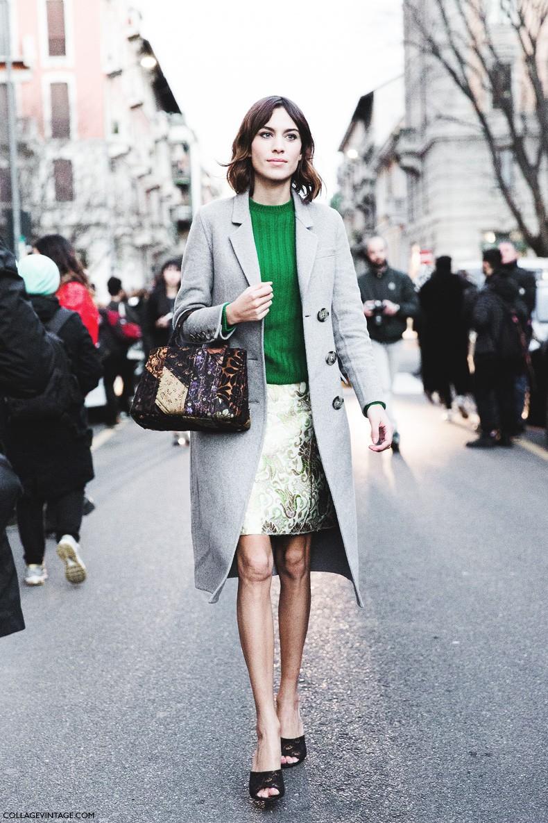 Milan_Fashion_Week-Fall_Winter_2015-Street_Style-MFW-Alexa_Chung_Grey_Coat-Prada-3