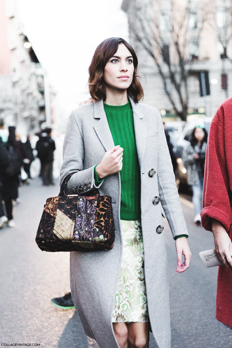 Milan_Fashion_Week-Fall_Winter_2015-Street_Style-MFW-Alexa_Chung_Grey_Coat-Prada-5