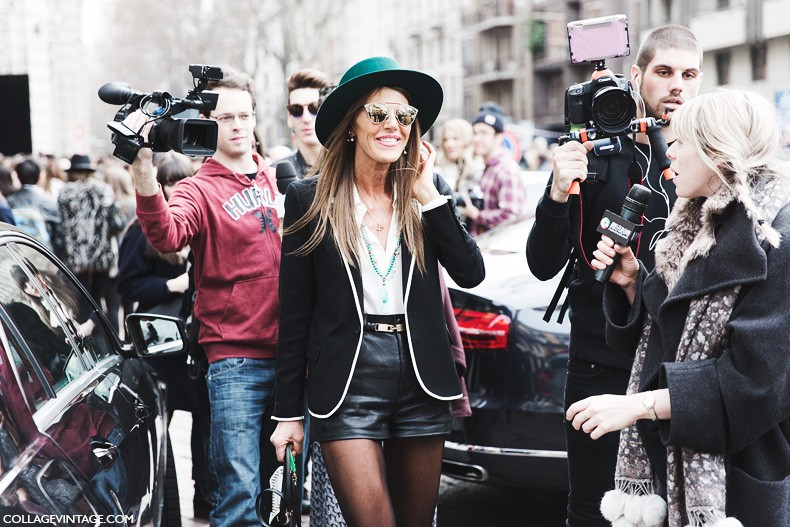 Milan_Fashion_Week-Fall_Winter_2015-Street_Style-MFW-Anna_Dello_Russo-Shorts-Hat-Gucci-