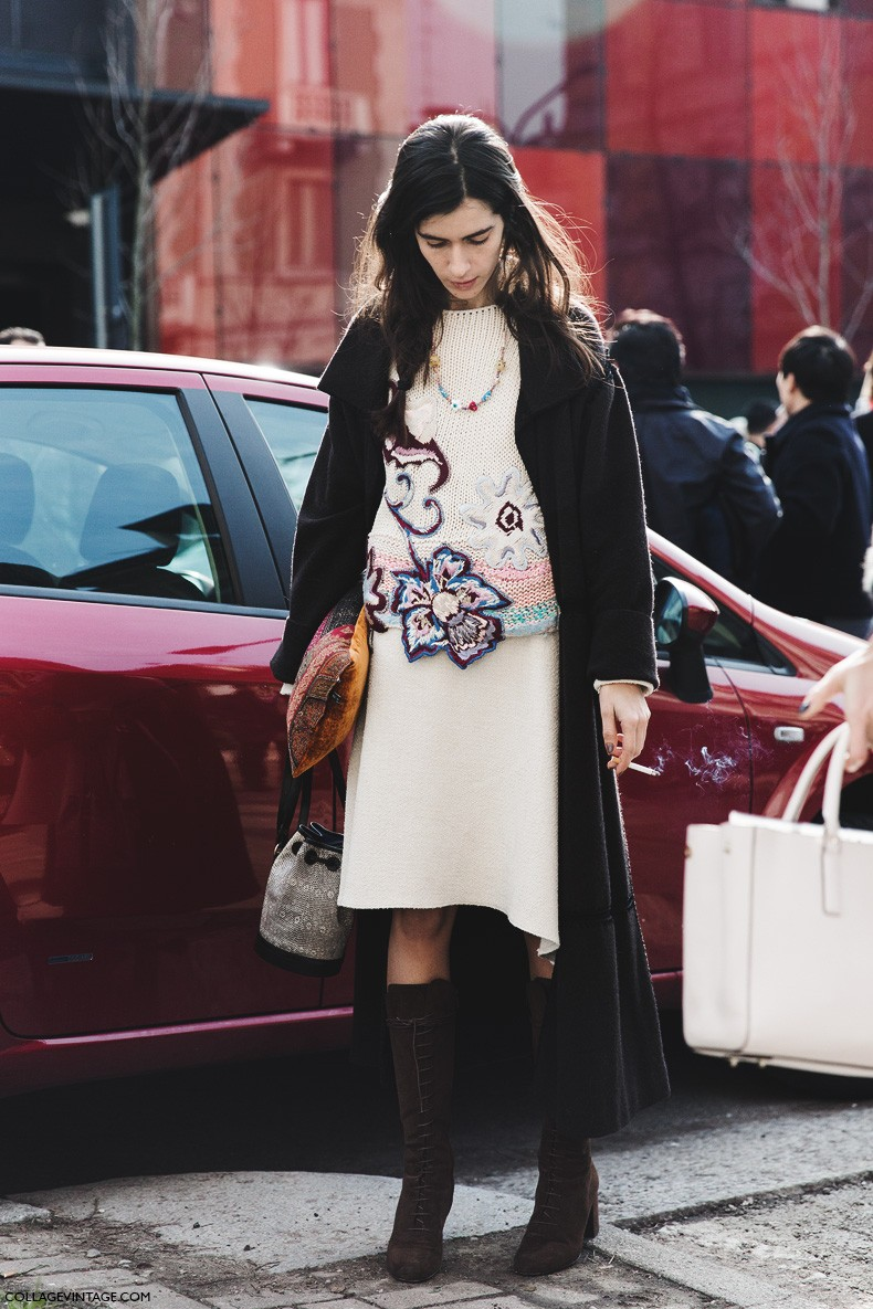 Milan_Fashion_Week-Fall_Winter_2015-Street_Style-MFW-Chiara_Totire-Midi-Skirt-1