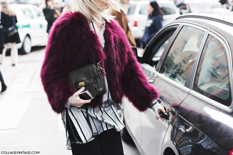 Milan_Fashion_Week-Fall_Winter_2015-Street_Style-MFW-Colorful_Fur_Coat-Proenza_Schouler-