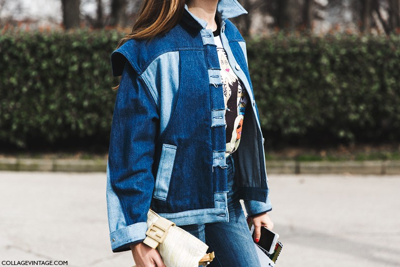 Milan_Fashion_Week-Fall_Winter_2015-Street_Style-MFW-Denim_Jacket-