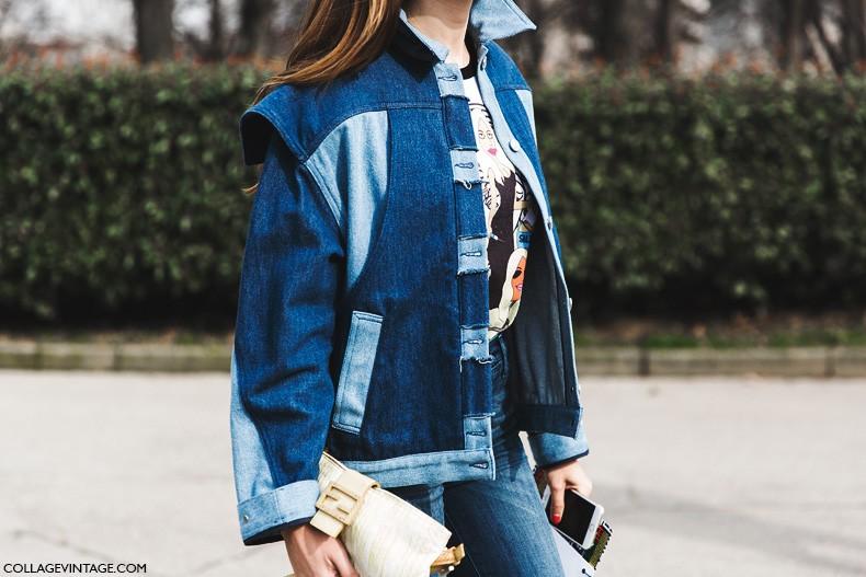 Milan_Fashion_Week-Fall_Winter_2015-Street_Style-MFW-Denim_Jacket-
