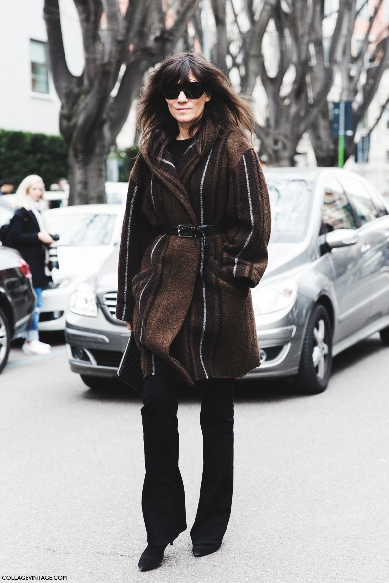 Milan_Fashion_Week-Fall_Winter_2015-Street_Style-MFW-Emmanuel_Alt-Belted_Coat-Flared_Jeans-
