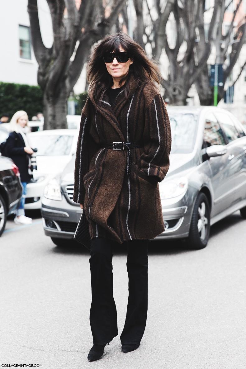 Milan_Fashion_Week-Fall_Winter_2015-Street_Style-MFW-Emmanuel_Alt-Belted_Coat-Flared_Jeans-