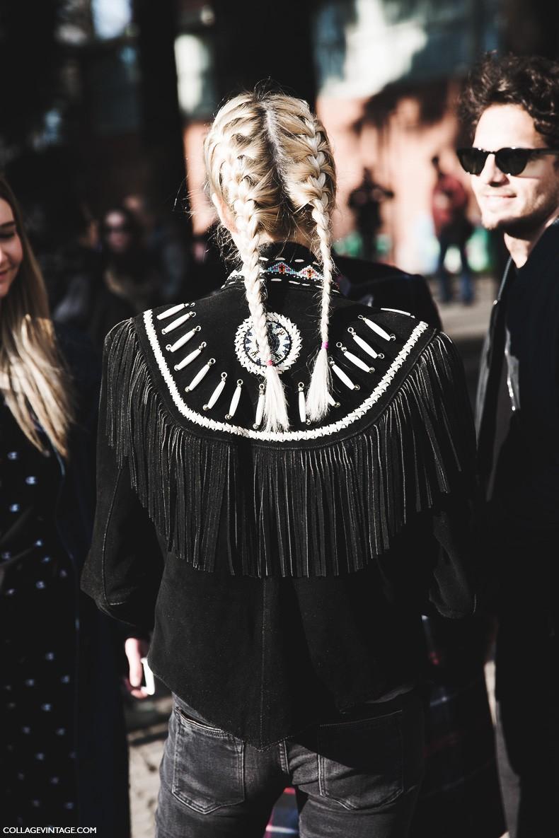 Milan_Fashion_Week-Fall_Winter_2015-Street_Style-MFW-Fringed_Jacket-Braided_Hair-