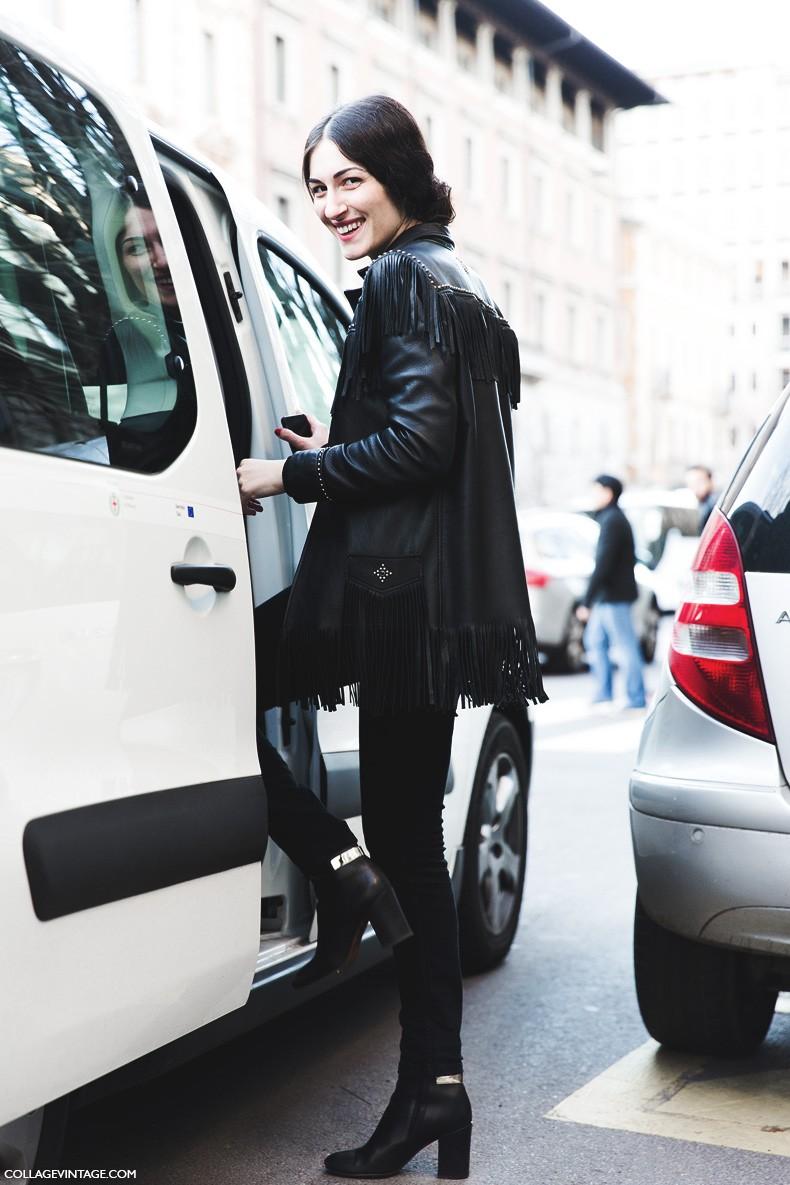 Milan_Fashion_Week-Fall_Winter_2015-Street_Style-MFW-Gulia_Tordini-Fringed_Leather_Jacket-1