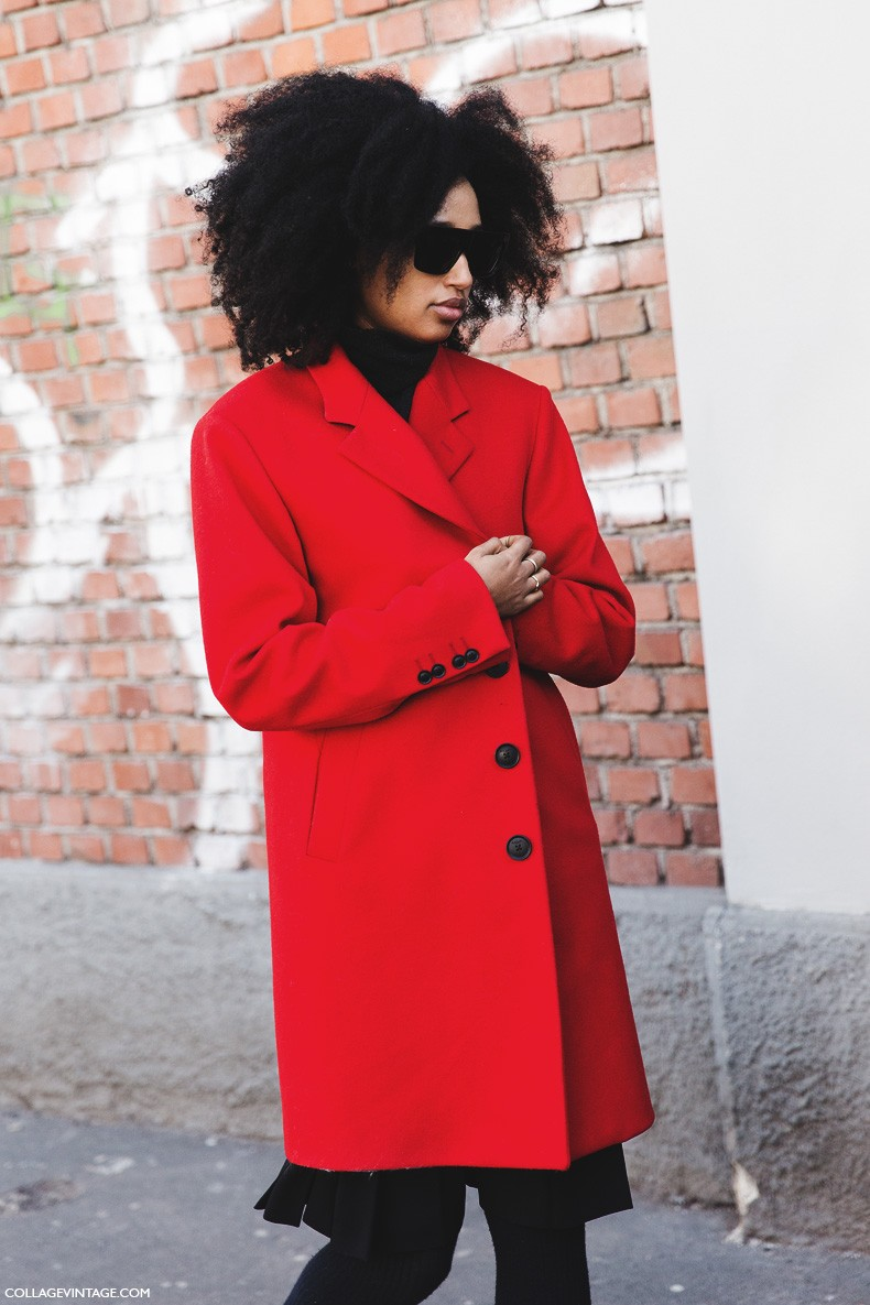 Milan_Fashion_Week-Fall_Winter_2015-Street_Style-MFW-Julia_Sarr_Jamois-Red_coat-1