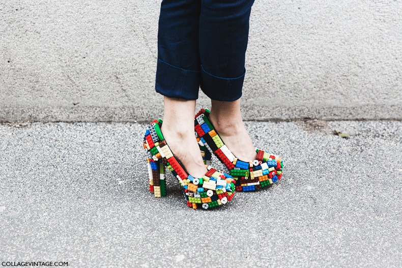 Milan_Fashion_Week-Fall_Winter_2015-Street_Style-MFW-Lego_Shoes-