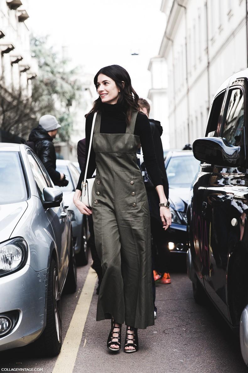 Milan_Fashion_Week-Fall_Winter_2015-Street_Style-MFW-Leila_Yavari_Jumpsuit_Khaki-