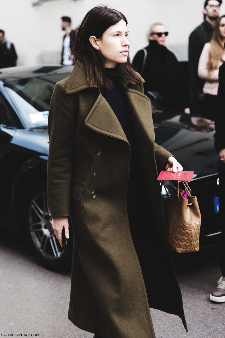 Milan_Fashion_Week-Fall_Winter_2015-Street_Style-MFW-Militar_Coat-1