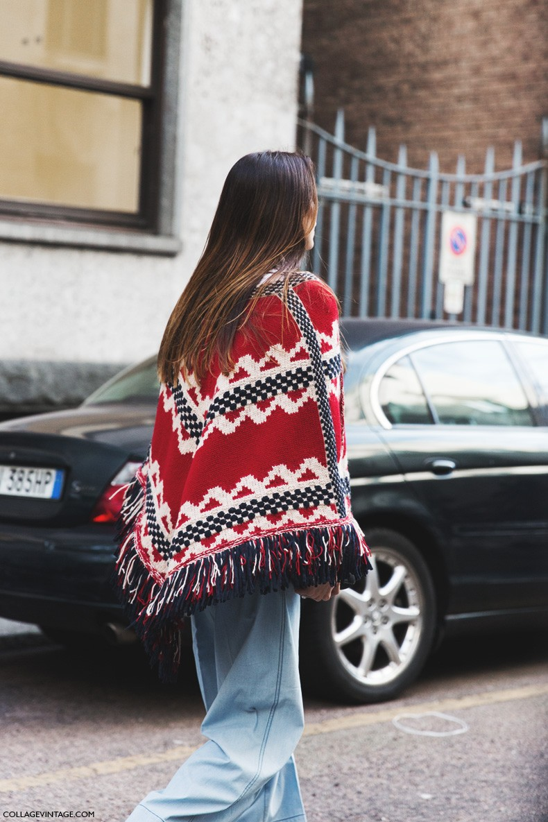 Milan_Fashion_Week-Fall_Winter_2015-Street_Style-MFW-Poncho-Flared_Jeans-
