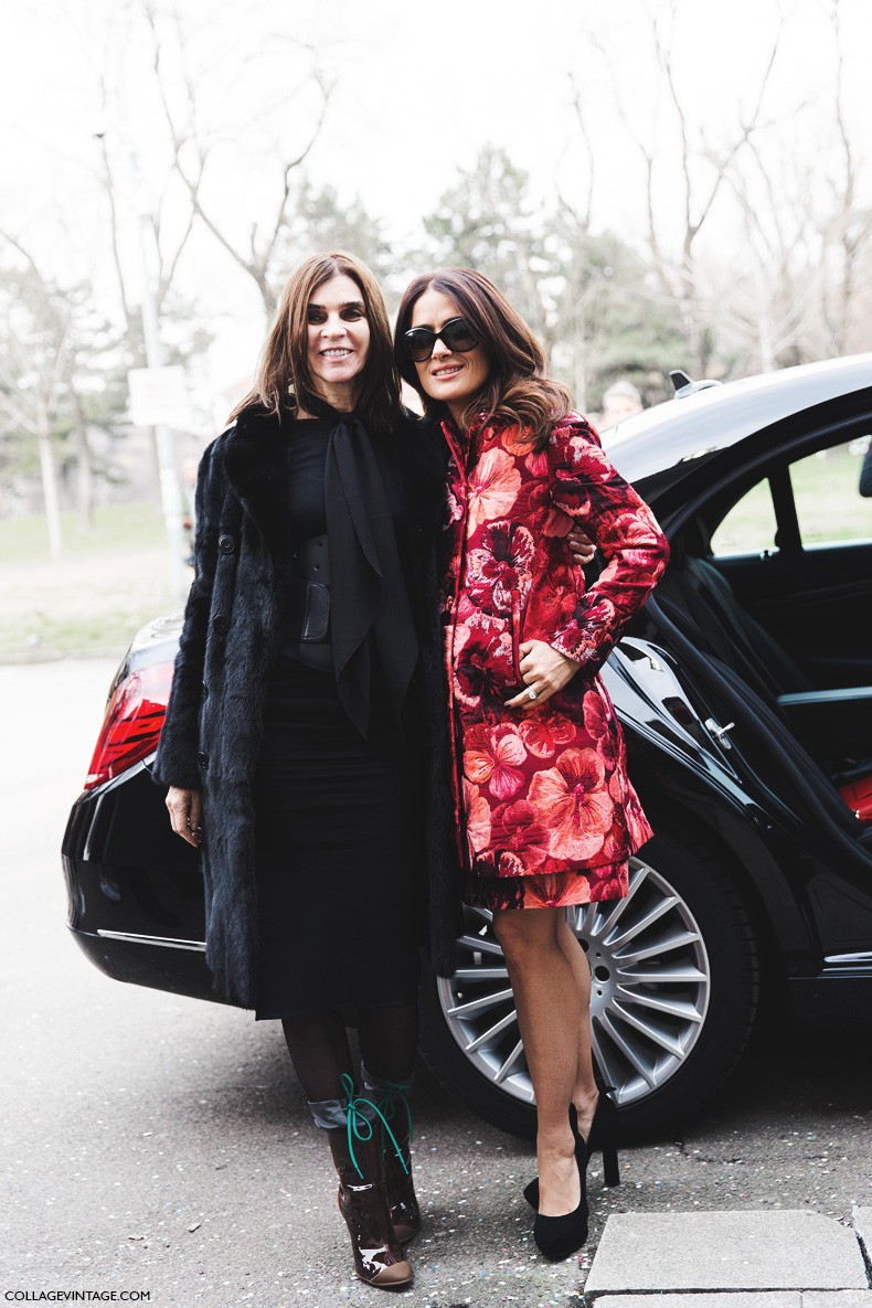 Milan_Fashion_Week-Fall_Winter_2015-Street_Style-MFW-Salma_Hayek-Sportmax-1