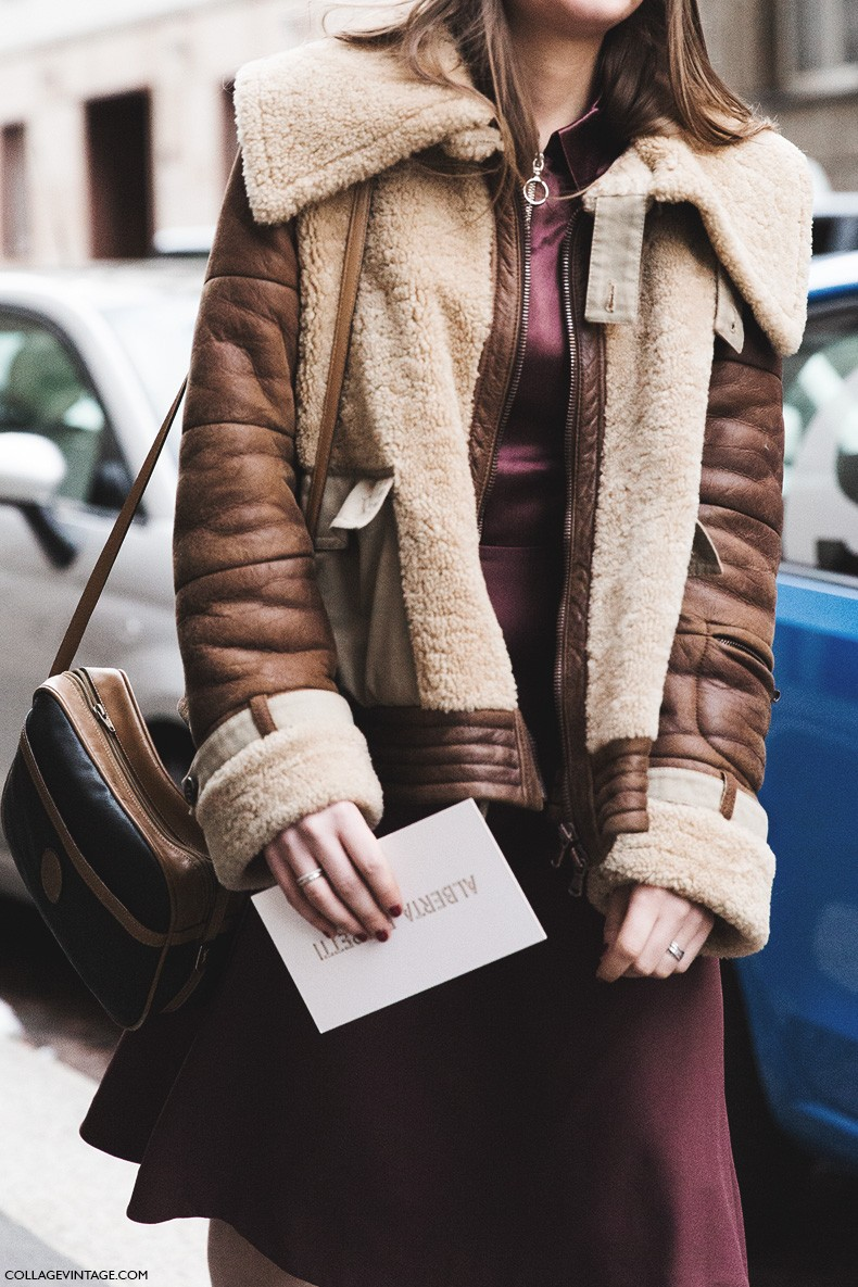 Milan_Fashion_Week-Fall_Winter_2015-Street_Style-MFW-Shearling_Coat-