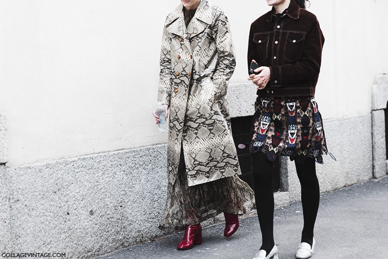 Milan_Fashion_Week-Fall_Winter_2015-Street_Style-MFW-Snake_COat-Red_Boots-Suede_Jacket-