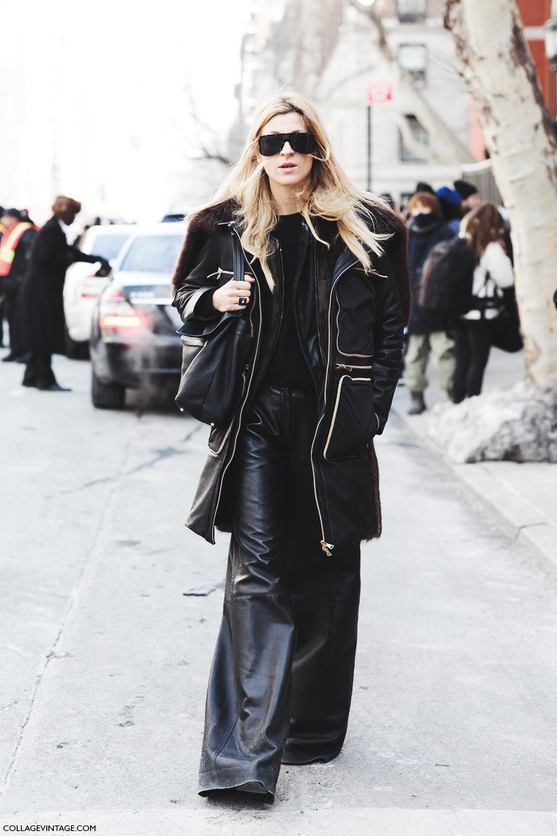 New_York_Fashion_Week-Fall_Winter_2015-Street_Style-NYFW-Ada_kokosar-Leather_Trousers-1