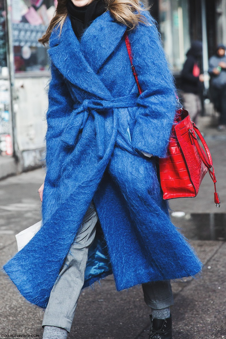 New_York_Fashion_Week-Fall_Winter_2015-Street_Style-NYFW-Blue_Coat-Red_Bag-