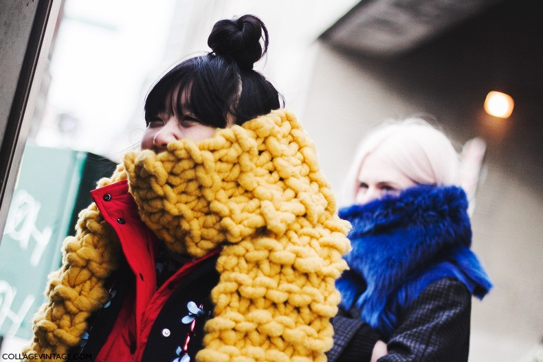 New_York_Fashion_Week-Fall_Winter_2015-Street_Style-NYFW-Bright_Scarf-